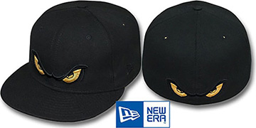 Storm METALLIC GOLD EYES Black Fitted Hat by New Era