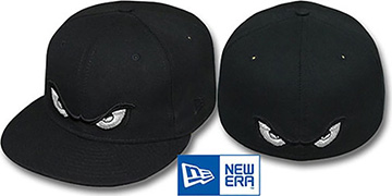 Storm METALLIC SILVER EYES Black Fitted Hat by New Era