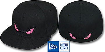 Storm PINK EYES Black Fitted Hat by New Era