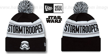 Storm Trooper 'BIGGEST FAN' Black-White Knit Beanie Hat by New Era