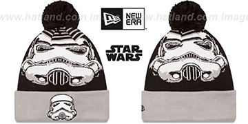 Storm Trooper LOGO WHIZ Black-Grey Knit Beanie Hat by New Era