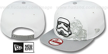 Storm Trooper 'PANEL POP SNAPBACK' White-Grey Hat by New Era