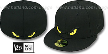 Storm YELLOW EYES Black Fitted Hat by New Era