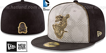 Suicide Squad KILLER CROC Grey-Black Fitted Hat by New Era