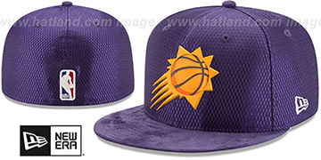 Suns 2017 ONCOURT DRAFT Purple Fitted Hat by New Era