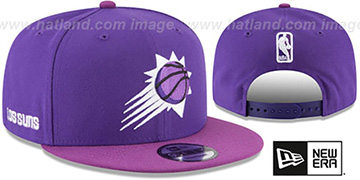 Suns CITY-SERIES SNAPBACK Purple-Purple Hat by New Era