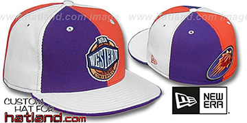 Suns CONFERENCE 'PINWHEEL' Purple-Orange-White Fitted Hat