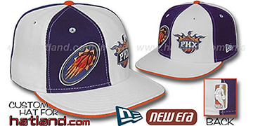 Suns 'DOUBLE WHAMMY' Purple-White Fitted Hat