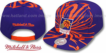 Suns 'EARTHQUAKE SNAPBACK' Purple Hat by Mitchell & Ness