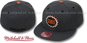 Suns GREY HEDGEHOG Fitted Hat by Mitchell & Ness