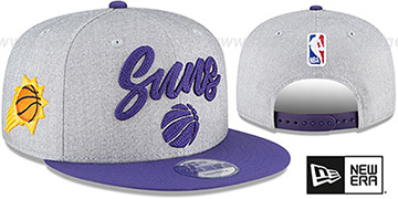 Suns ROPE STITCH DRAFT SNAPBACK Grey-Purple Hat by New Era