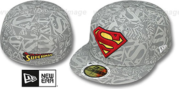Superman 'COMIC REFLECT' Fitted Hat by New Era