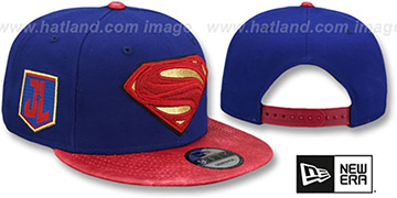 Superman 'JUSTICE LEAGUE SNAPBACK' Royal-Red Hat by New Era