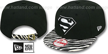 Superman 'OSTRICH-ZEBRA STRAPBACK' Hat by New Era