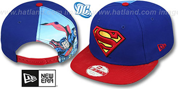Superman 'QUARTER-SUB SNAPBACK' Royal-Red Hat by New Era