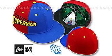 Superman 'TITLE TAG' Royal-Red Fitted Hat by New Era