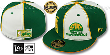 Supersonics LOGOMAN DOUBLE WHAMMY Kelly-White Fitted Hat