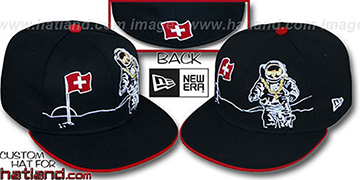 Switzerland MOONMAN Black Fitted Hat by New Era