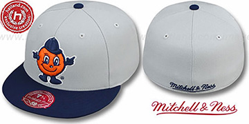 Syracuse '2T XL-LOGO' Grey-Navy Fitted Hat by Mitchell & Ness
