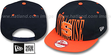 Syracuse STEP-ABOVE SNAPBACK Navy-Orange Hat by New Era