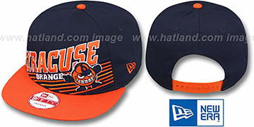 Syracuse 'STILL ANGLIN SNAPBACK' Navy-Orange Hat by New Era