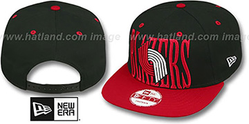 Trailblazers STEP-ABOVE SNAPBACK Black-Red Hat by New Era