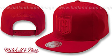 Team USA TONAL SHIELD SNAPBACK Red Hat by Mitchell and Ness