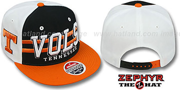Tennessee '2T SUPERSONIC SNAPBACK' Black-Orange Hat by Zephyr