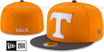 Tennessee 'HEATHER-HUGE' Orange-Charcoal Fitted Hat by New Era