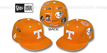 Tennessee 'NCAA ALL-OVER' Orange Fitted Hat by New Era