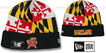 Terps TURTLE MARYLAND-FLAG Knit Beanie Hat by New Era