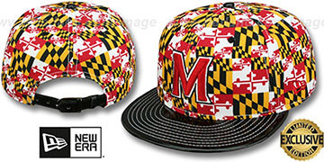 Terrapins MARYLAND-FLAG CROWN PATENT STRAPBACK Hat by New Era