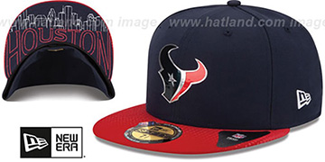 Texans 2015 NFL DRAFT Navy-Red Fitted Hat by New Era
