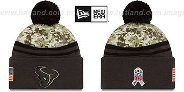 Texans 2016 SALUTE-TO-SERVICE Knit Beanie Hat by New Era
