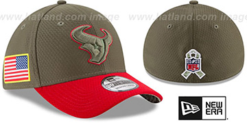 Texans 2017 SALUTE-TO-SERVICE FLEX Green-Red Hat by New Era