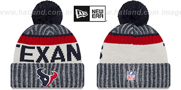 Texans 2017 STADIUM BEANIE Navy Knit Hat by New Era