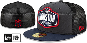 Texans 2021 NFL TRUCKER DRAFT Fitted Hat by New Era