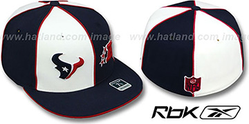 Texans AFC DOUBLE LOGO White-Navy Fitted Hat by Reebok