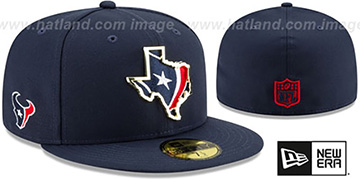 Texans GOLD STATED INSIDER Navy Fitted Hat by New Era