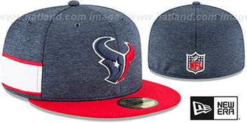 Texans HOME ONFIELD STADIUM Navy-Red Fitted Hat by New Era