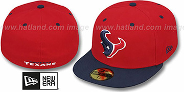 Texans NFL 2T-TEAM-BASIC Red-Navy Fitted Hat by New Era