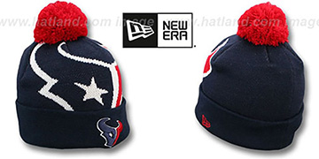 Texans 'NFL-BIGGIE' Navy Knit Beanie Hat by New Era