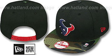 Texans NFL CAMO-BRIM SNAPBACK Adjustable Hat by New Era