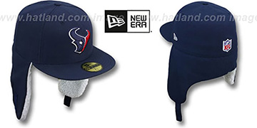 Texans NFL-DOGEAR Navy Fitted Hat by New Era