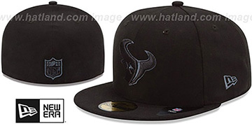 Texans 'NFL FADEOUT-BASIC' Black Fitted Hat by New Era