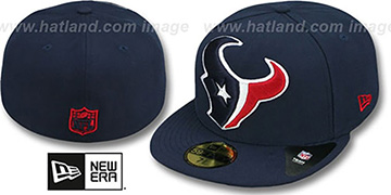 Texans NFL 'MIGHTY-XL' Navy Fitted Hat by New Era