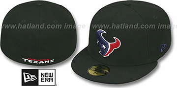 Texans NFL TEAM-BASIC Black Fitted Hat by New Era