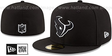 Texans NFL TEAM-BASIC Black-White Fitted Hat by New Era