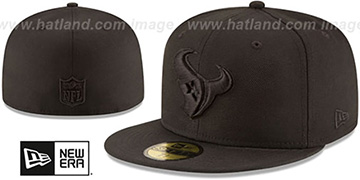 Texans NFL TEAM-BASIC BLACKOUT Fitted Hat by New Era