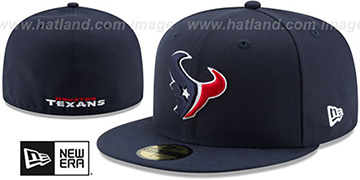 Texans NFL TEAM-BASIC Navy Fitted Hat by New Era